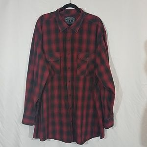 Nautica Red Black Check Long Sleeve Shirt